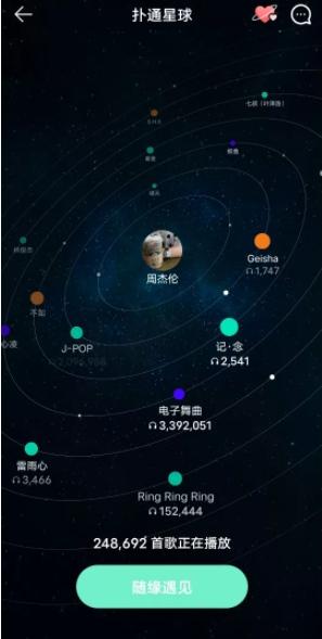 QQ音乐新增扑通星球功能强化社交属性